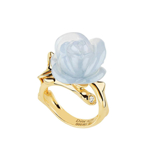 Dior PRÉ CATALAN BLUE CHALCEDONY RING WITH DIAMONDS