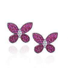 GRAFF PAVE BUTTERFLY SAPPHIRE, WHITE GOLD, LARGE MODEL