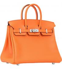 Hermes Birkin 25 cm swift Orange silver hardware