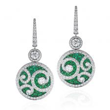 GRAFF DIAMOND ON DIAMOND, EMERALDS & DIAMONDS, MEDIUM SIZE