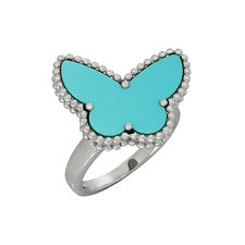 Van Cleef & Arpels. LUCKY ALHAMBRA BUTTERFLY RING