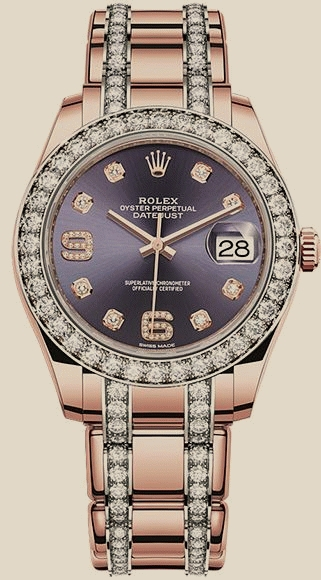ROLEX Pearlmaster 39 mm, Everose gold and diamonds