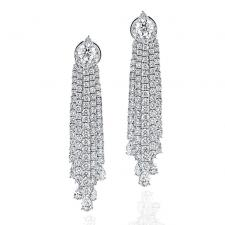 GRAFF JASMIN MOTIF&CASCADING STRAND DROP EARRINGS, 9.10 CT