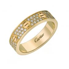 Cartier LOVE WEDDING BAND, DIAMOND-PAVED