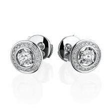 Boucheron AVA ROUND EARRINGS С БРИЛЛИАНТАМИ 0,21 D/VVS1-0,21 D/VVS1