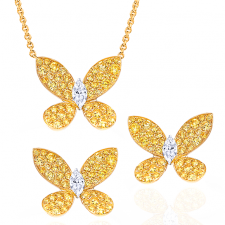 GRAFF PAVE BUTTERFLY SET