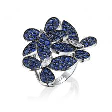 GRAFF TRIPLE PAVÉ BUTTERFLY RING