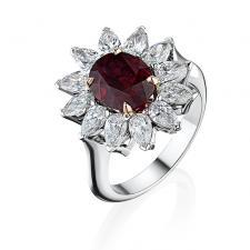 RalfDiamonds РУБИН  3.03 CT PIGEON'S BLOOD