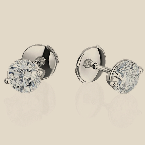 СЕРЬГИ NO NAME - 1.11 CT G/VS1 - 1.10 CT G/VS1