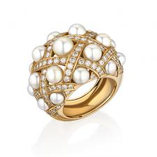 CHANEL  BAROQUE RING LARGE MODEL