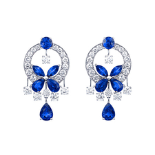 GRAFF BUTTERFLY SAPPHIRE EARRINGS