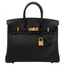Hermes Birkin 25 Black Swift GHW