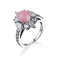Мikimoto  RING, CONCH PEARL, DIAMONDS