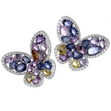 Schreiner NEO HAUTE JOAILLERIE. PAPILLON EARRINGS