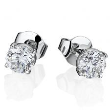 GRAFF DIAMOND STUD EARRINGS 1.01 CT F/VS2 - 1.06 CT F/VS2