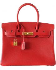 Hermes Birkin 30 Rouge Casaque Bag