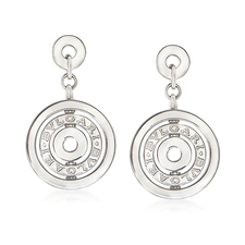 Bvlgari ASTRALE CLIP-ON CIRCLE DROP EARRINGS
