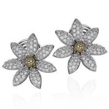 Schreiner NEO HAUTE JOAILLERIE. FLOWER EARRINGS