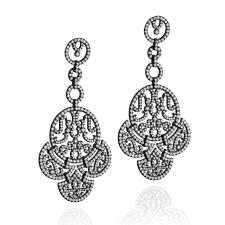 Jacob & Co LACE, CHANDELIER EARRINGS, DIAMONDS, BLACK PLATED GOLD