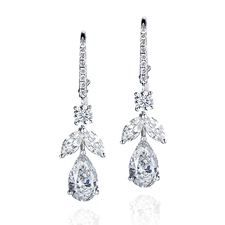 GRAFF TOPS ON FRENCH EARRINGS 1.02  F/VVS1 - 1.02 F/VS2