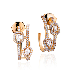 MESSIKA MY TWIN HOOPS 5ROWS 2 x 0.10 CT