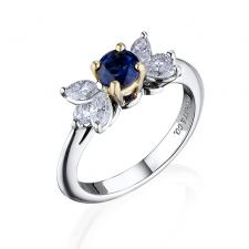 VICTORIA SAPPHIRE&DIAMOND PLATINUM RING