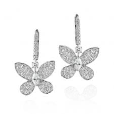 GRAFF PAVE BUTTERFLY EARRINGS
