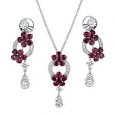 GRAFF ROSETTE RUBY SET