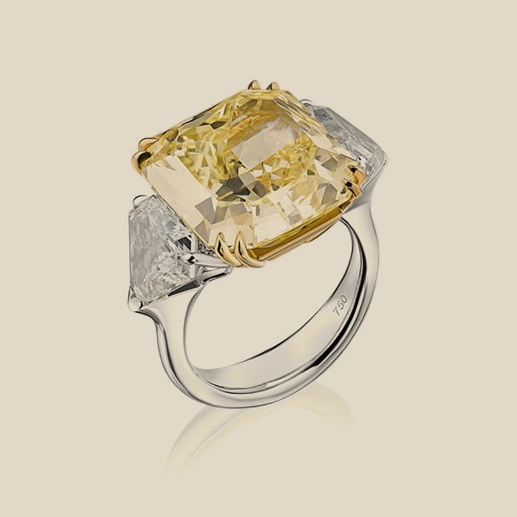 Кольцо - 13.45 CT FANCY YELLOW/VVS2