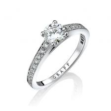 GRAFF DIAMOND FLAME RING 1.00 CT G/SI1