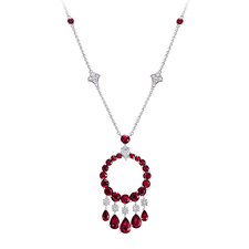 GRAFF RUBY AND DIAMOND 'GYPSY' PENDANT-NECKLACE