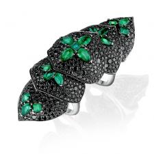 STEPHEN WEBSTER EMERALD BELLE EPOQUE RING