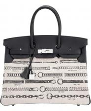 Hermes Birkin Bag 35cm De Camp Dechainee Toile Swift Limited Edition