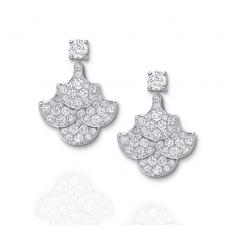 GRAFF ICON PAVE DIAMOND EARRINGS