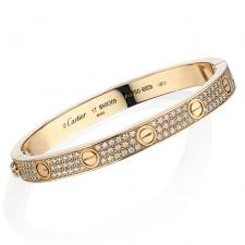 Cartier LOVE BRACELET, PINK GOLD, DIAMONDS