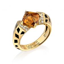 Cartier CARTIER CITRINE AND DIAMOND PANTHERE RING