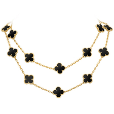 Van Cleef & Arpels. ALHAMBRA LONG NECKLACE, 20 MOTIFS