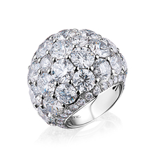 GRAFF BOMBE DIAMOND RING 22.04 CT