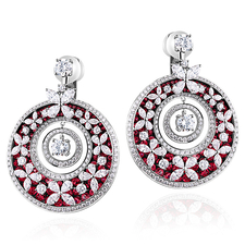 GRAFF BUTTERFLY MEDALLION EARRINGS