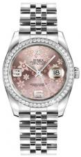 Rolex / Datejust / 116244 Pink Floral Dial Oyster