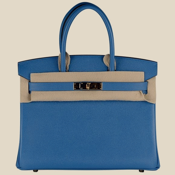 "Hermes - ""Birkin Bag 30 Epson Leather Bleu Zanzibar"""