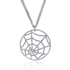 Chaumet CATCH ME SPIDER WEB DIAMOND NECKLACE