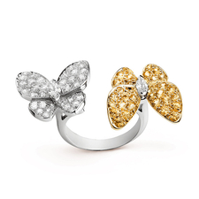 Van Cleef & Arpels. TWO BUTTERFLY BETWEEN THE FINGER RING
