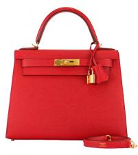 Hermes Kelly Bag II 28 Epsom Rouge Casaque