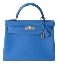 Hermes KELLY RETOURNE evercolor 32 blue hydra phw