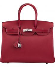 Hermes ROUGE CASAQUE EPSOM LEATHER BIRKIN 35 BAG