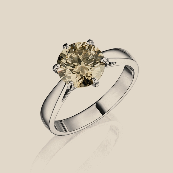 КОЛЬЦО NO NAME - 2.17 CT LIGHT BROWN