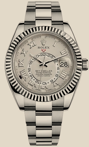Швейцарские часы Rolex Sky-Dweller 42mm White Gold