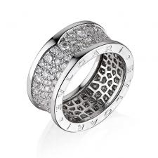 Bvlgari B.ZERO1 DIAMOND PAVE RING