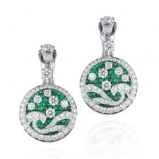 GRAFF DIAMOND & EMERALD WAVE EARRINGS